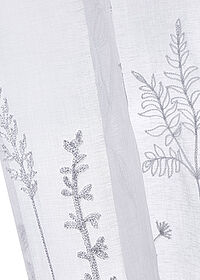 Perdea broderie florală (1buc.) alb/gri bpc living bonprix collection 2