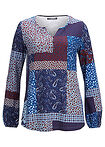 Bluză cu aspect patchwork, design Maite Kelly albastru polar paisley bpc bonprix collection 4
