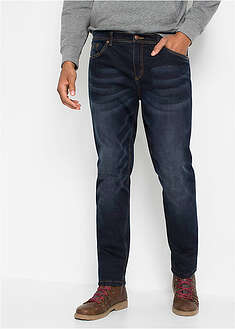 Dżinsy ocieplane ze stretchem Regular Fit Straight John Baner JEANSWEAR 27