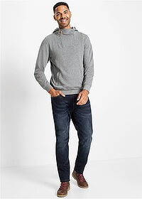 Thermo sztreccsnadrág Regular Fit Straight sötét denim John Baner JEANSWEAR 3