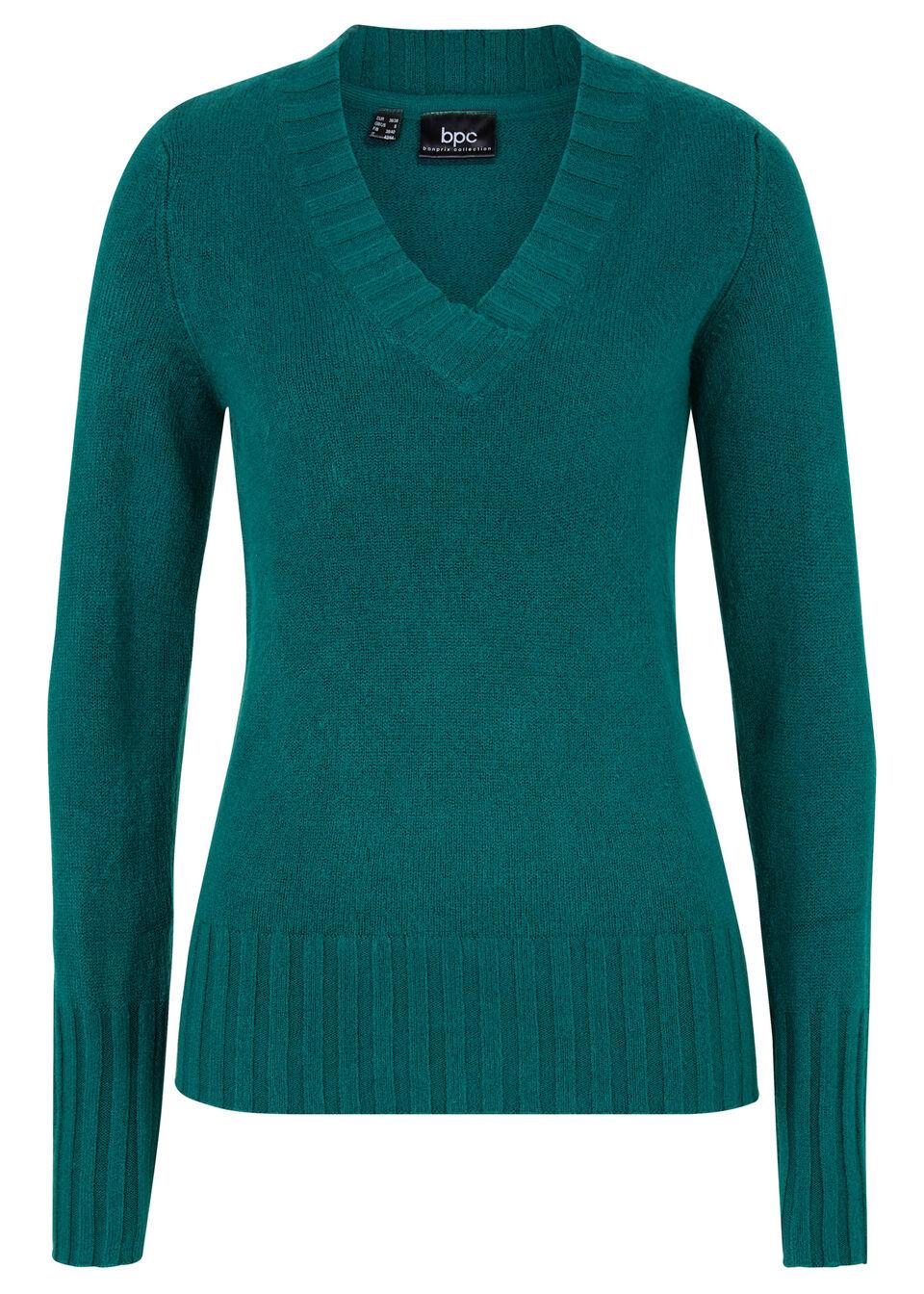 Пуловер с V-образным вырезом от bonprix