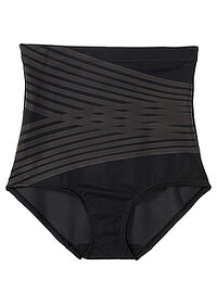 Figi panty shape Level 2 czarno-antracytowy z nadrukiem bpc bonprix collection - Nice Size 0
