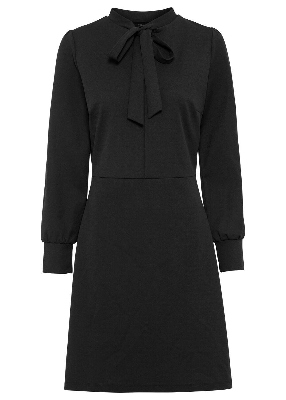 Sukienka z krawatką bonprix czarny