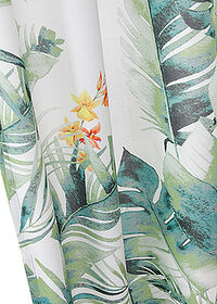 Draperie microfibre cu frunze 1buc. alb/verde bpc living bonprix collection 6