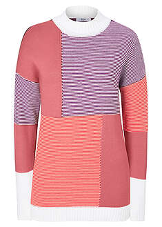 Sweter patchworkowy bpc bonprix collection 17
