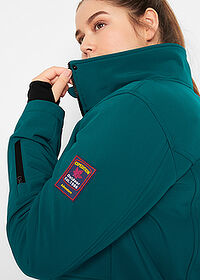 Geacă stretch lungă din softshell verde-piper/salvie bpc bonprix collection 4