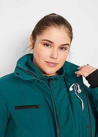 Geacă stretch lungă din softshell verde-piper/salvie bpc bonprix collection 5