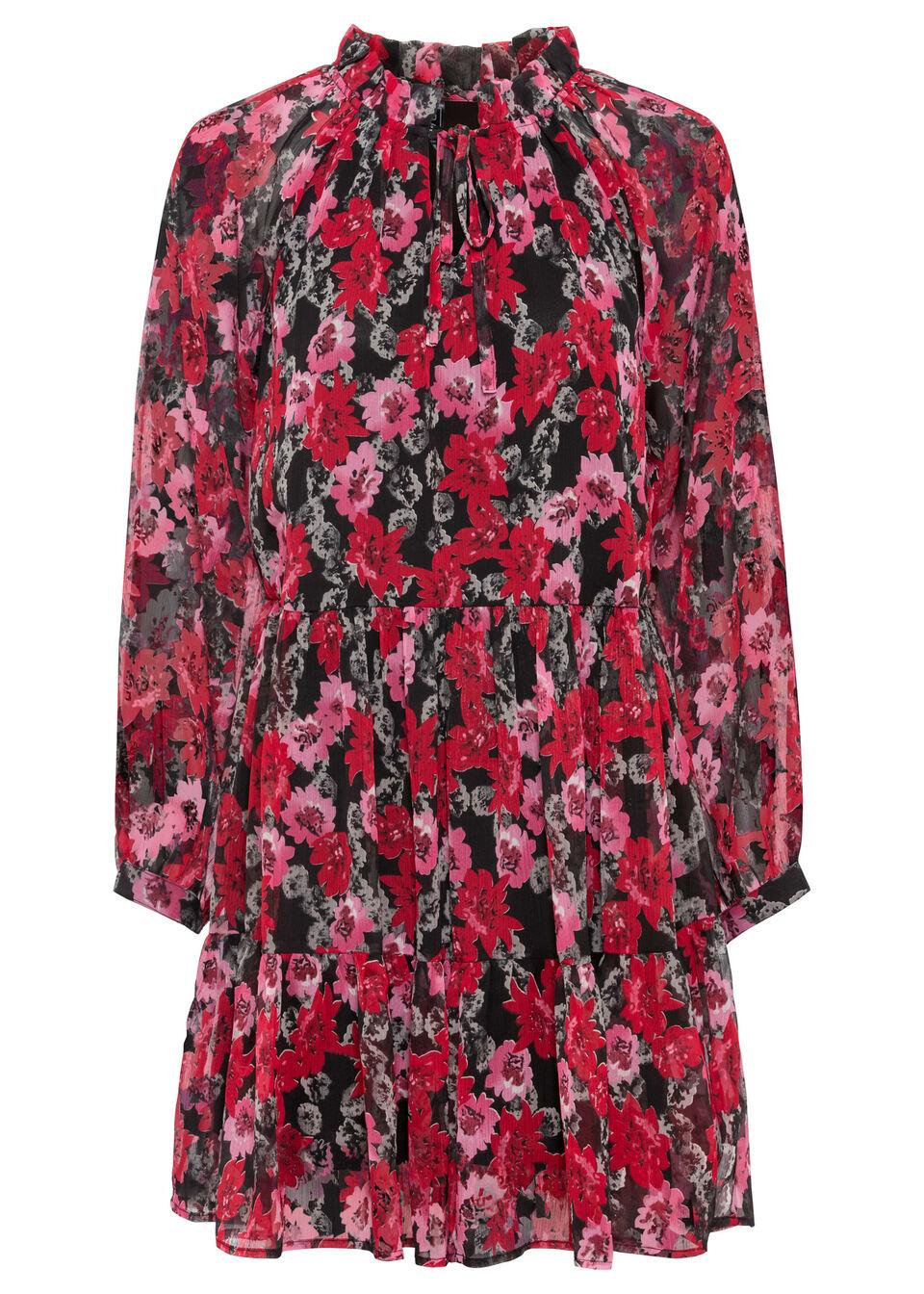 Sukienka bonprix Sukienka czarny w kwiat