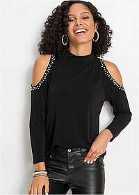 Shirt cold-shoulder czarny BODYFLIRT 1