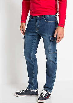 Dżinsy ocieplane ze stretchem Regular Fit Straight John Baner JEANSWEAR 54