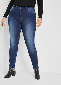 "Dżinsy ze stretchem Maite Kelly ciemny denim ""used"" bpc bonprix collection 1"