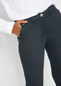 Pantaloni termo twill negru bpc bonprix collection 5