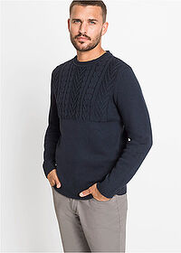Sweter ciemnoniebieski bpc bonprix collection 1