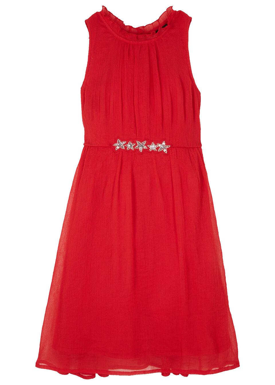 Sukienka dziewczęca z cekinami na uroczyste okazje bonprix czerwony