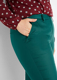 Pantaloni din Lyocell TENCEL™ verde închis bpc bonprix collection 5