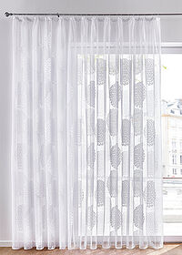 Perdea jacquard alb bpc living bonprix collection 0