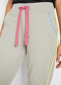 Pantaloni jogging, nivel 1 gri deschis melanj bpc bonprix collection 5