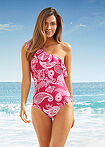 Costum de baie fucsia-alb, model paisley bpc selection 6