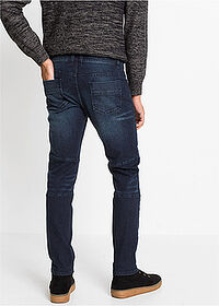 Slim Fit sztreccsfarmer Straight sötét denim RAINBOW 2