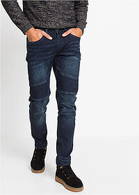 Dżinsy ze stretchem Slim Fit Straight ciemny denim RAINBOW 1