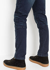 Dżinsy ze stretchem Slim Fit Straight ciemny denim RAINBOW 4
