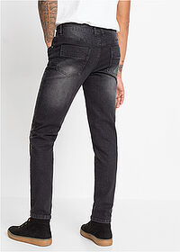 Slim Fit sztreccsfarmer Straight fekete denim RAINBOW 2