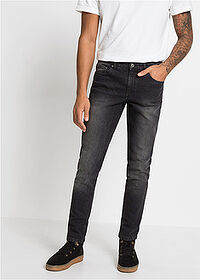 Slim Fit sztreccsfarmer Straight fekete denim RAINBOW 1
