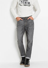 Dżinsy Loose Fit Tapered szary denim John Baner JEANSWEAR 1