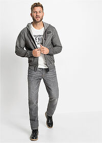 Dżinsy Loose Fit Tapered szary denim John Baner JEANSWEAR 3