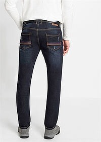 Sztreccsfarmer Slim Fit Straight sötét denim John Baner JEANSWEAR 2