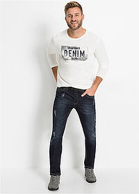 Sztreccsfarmer Slim Fit Straight sötét denim John Baner JEANSWEAR 3