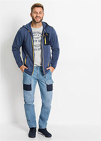 Regular Fit Worker-farmer, Straight középkék koptatott John Baner JEANSWEAR 3