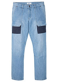 "Dżinsy worker Regular Fit Straight niebieski ""medium bleached"" John Baner JEANSWEAR 0"