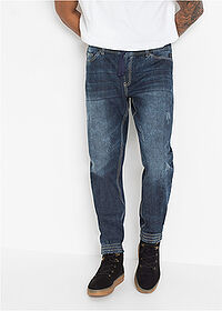 Džísy Slim Fit Straight tmavomodrá denim RAINBOW 1