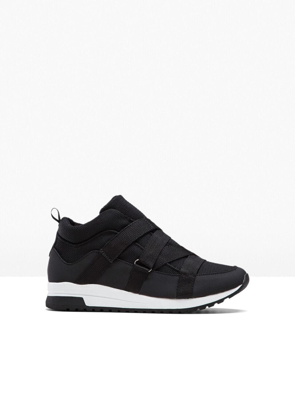 Wysokie sneakersy bonprix czarny