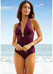 Costum de baie tall, sustenabil bordo BODYFLIRT 2