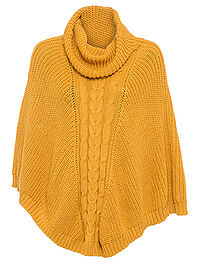 Poncho ocru bpc bonprix collection 0