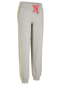 Pantaloni jogging, nivel 1 gri deschis melanj bpc bonprix collection 0