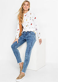"Dżinsy SKINNY jasny ""moon washed"" RAINBOW 3"
