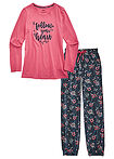Pijama roz fumuriu imprimat bpc bonprix collection 8