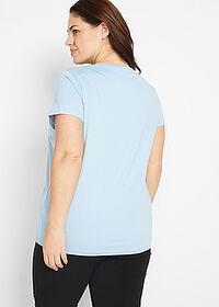 Tricou decolteu rotund (5buc.) coral deschis/homar/bleu/azuriu/alb bpc bonprix collection 2