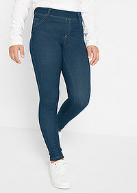 Colanţi fete cu aspect denim bleumarin bpc bonprix collection 1