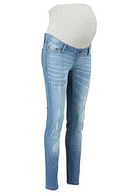 Blugi skinny de gravide bleu uzat bpc bonprix collection 0