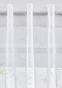 Perdea brodată floral (1buc.) alb bpc living bonprix collection 1