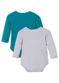 Body bebe (2buc.), eco turcoaz-gri melanj imprimat bpc bonprix collection 1