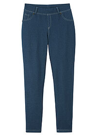 Colanţi fete cu aspect denim bleumarin bpc bonprix collection 0