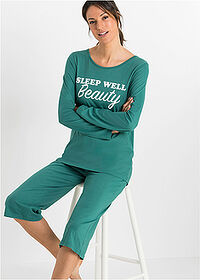 Pijama Capri verde tern imprimat bpc bonprix collection 1