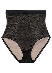 Figi panty shape Level 2 czarno-cielisty bpc bonprix collection - Nice Size 0