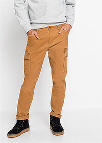 Pantaloni cargo slim fit stretch, straight maro coniac bpc bonprix collection 1