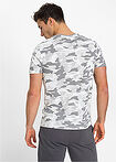 T-shirt Slim Fit biały moro RAINBOW 10